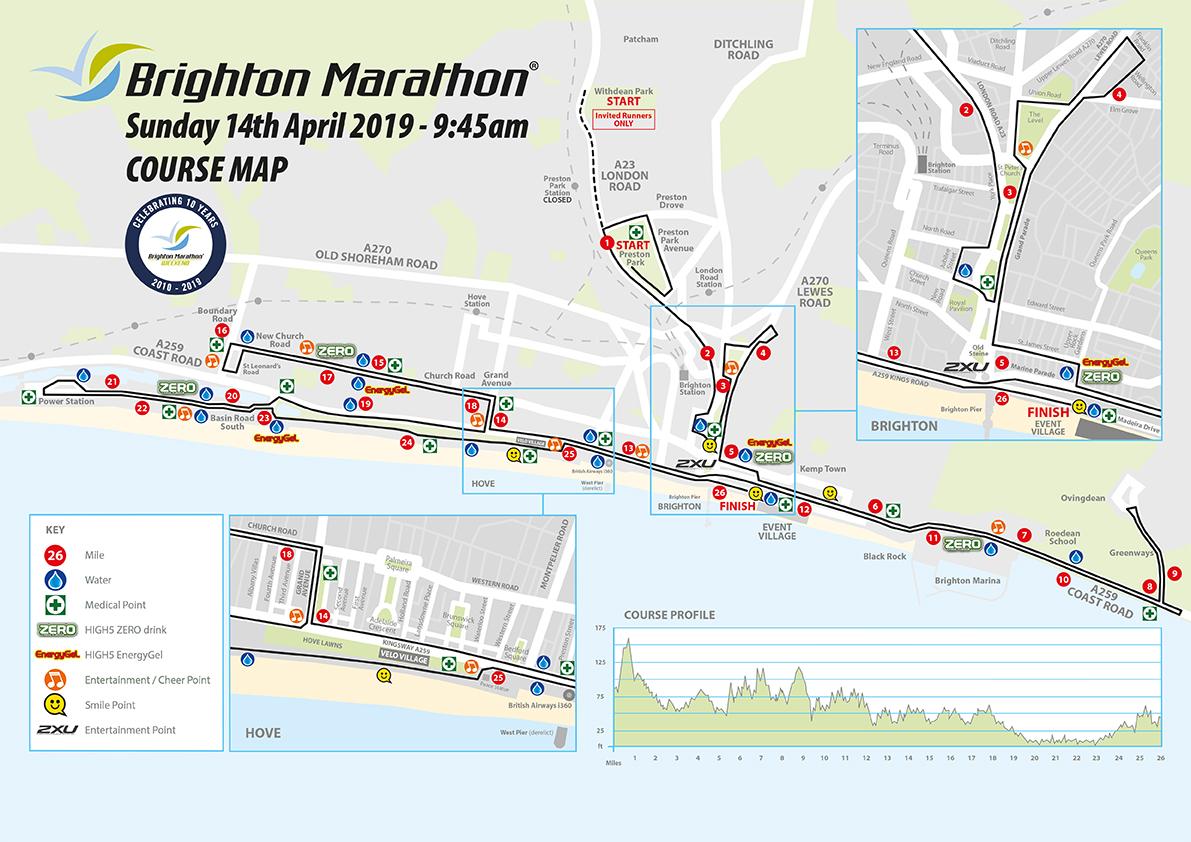 7661GE Marathon Course map 2019