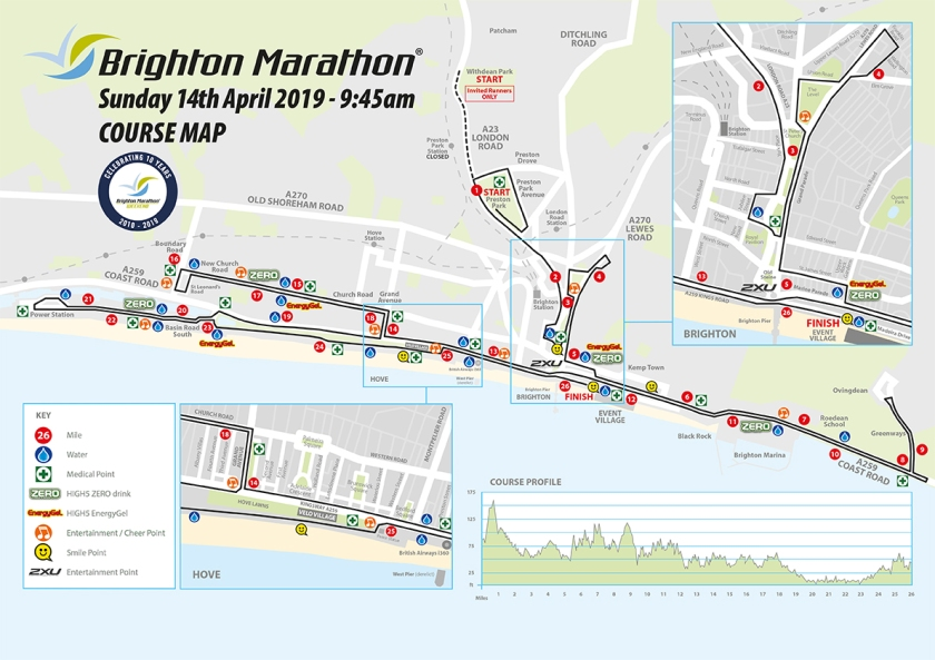 7661GE Marathon Course map 2019